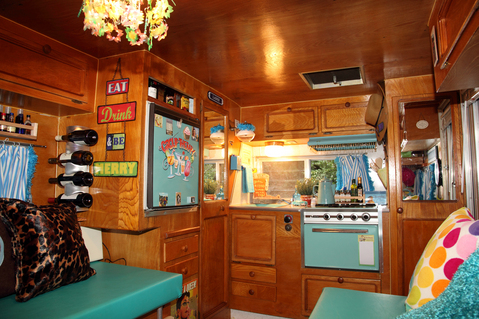 Creative Vintage Travel Trailer Interior